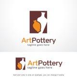Vetor de Art Pottery Logo Template Design, emblema, conceito de projeto, símbolo criativo, ícone fotografia de stock royalty free