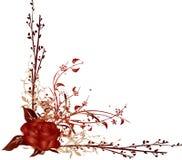 Vetor de canto vermelho de Rosa Fotos de Stock Royalty Free
