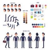 Vetor de Character Generator Flat do homem de negócios ilustração royalty free