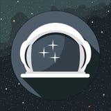 Vetor de Digitas com ícone do capacete do astronauta ilustração royalty free