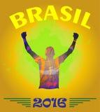 Vetor de Digitas, vencedor 2016 abstrato de Brasil Fotografia de Stock Royalty Free