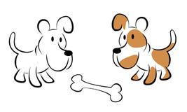 Vetor de dois cães Imagem de Stock Royalty Free