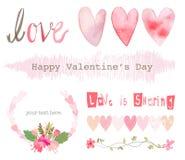 Vetor de elementos do amor Imagens de Stock Royalty Free