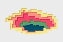 Vetor de estratificação do pixel Imagem de Stock