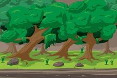 Vetor de Forest Cartoon Outdoor Background Design ilustração stock