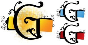 Vetor de g do alfabeto Imagens de Stock Royalty Free