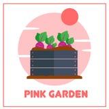 Vetor de jardinagem Art Logo Template da ilustração e ilustração Imagem de Stock