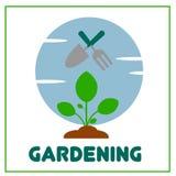 Vetor de jardinagem Art Logo Template da ilustração e ilustração Foto de Stock Royalty Free