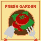 Vetor de jardinagem Art Logo Template da ilustração e ilustração Foto de Stock