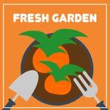 Vetor de jardinagem Art Logo Template da ilustração e ilustração Imagem de Stock Royalty Free