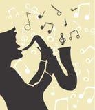 Vetor de música de jazz Fotografia de Stock Royalty Free