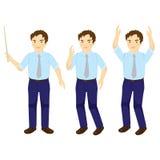 Vetor de Man Training Action do professor do negócio Fotografia de Stock