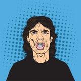 Vetor de Mick Jagger Pop Art Portrait ilustração stock