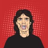 Vetor de Mick Jagger Pop Art Portrait ilustração do vetor