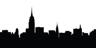 Vetor de New York da skyline da cidade Fotografia de Stock Royalty Free