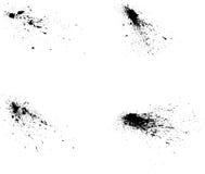 Vetor de quatro spatters da pintura Imagens de Stock