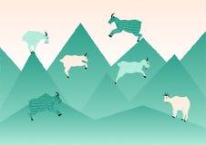 Vetor de salto da ilustração da cabra Foto de Stock