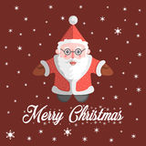 Vetor de Santa Claus com Feliz Natal do texto Fotos de Stock Royalty Free