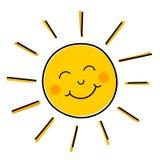 Vetor de sorriso do sol ilustração do vetor