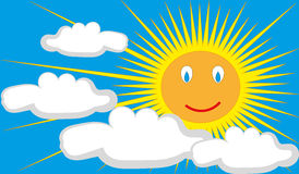 Vetor de Sun Imagens de Stock