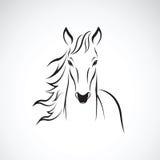 Vetor de um cavalo no fundo branco Foto de Stock Royalty Free