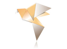 Pássaro de papel de Origami Fotografia de Stock