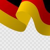 Vetor de uma bandeira alemão de ondulação ilustração do vetor