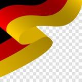 Vetor de uma bandeira alemão de ondulação ilustração royalty free