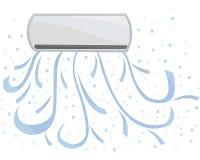 Vetor de unidade interno O condicionamento de ar está disponível, frio na sala Fotos de Stock Royalty Free