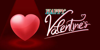 Vetor de Valentine Red Heart Spotlight Background Imagens de Stock Royalty Free