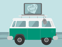 Vetor de viagem da ilustração do trabalho Fotografia de Stock Royalty Free