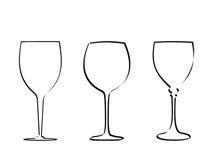 Vetor de vidro 2 da haste ilustração royalty free