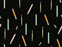 Vetor de volta ao fundo do tema da escola: escovas e lápis Fotos de Stock Royalty Free