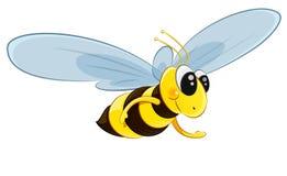 Vetor de voo do caráter da abelha ilustração stock
