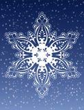 Vetor decorativo do ornamento do floco de neve Foto de Stock Royalty Free