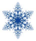 Vetor decorativo do ornamento do floco de neve ilustração royalty free