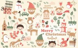 Vetor - desenhos animados do Natal Foto de Stock