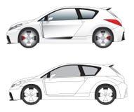 Vetor desportivo da ilustração do carro Fotografia de Stock