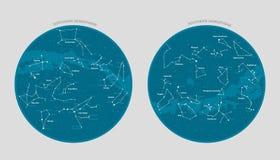 Vetor detalhado do mapa de estrela ilustração royalty free