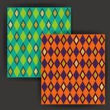 Vetor Diamond Shape Seamless Pattern com efeito do selo da folha de ouro Fotos de Stock