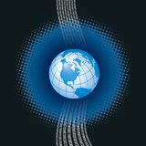 Vetor digital global ilustração stock