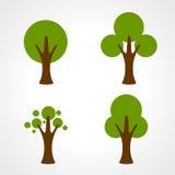 Vetor do ícone da árvore Imagens de Stock Royalty Free