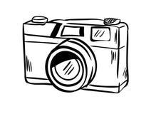 Vetor do ícone da câmera com estilo da garatuja Imagem de Stock