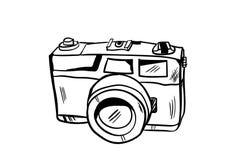 Vetor do ícone da câmera com estilo da garatuja Fotografia de Stock Royalty Free