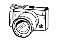 Vetor do ícone da câmera com estilo da garatuja Fotos de Stock