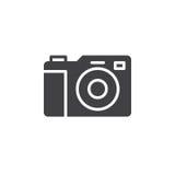 Vetor do ícone da câmera da foto, sinal liso enchido ilustração stock
