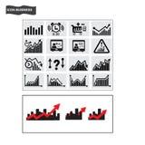 Vetor do ícone da compra e venda de ações da finança dos ícones do negócio Fotografia de Stock Royalty Free