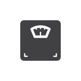 Vetor do ícone da escala do peso corporal, sinal liso enchido, pictograma contínuo isolado no branco Fotografia de Stock Royalty Free