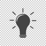 Vetor do ícone da ideia liso Imagens de Stock Royalty Free