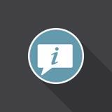 Vetor do ícone da informação isolado no preto Fotografia de Stock Royalty Free